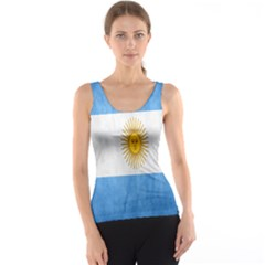 Argentina Texture Background Tank Top