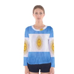 Argentina Texture Background Women s Long Sleeve Tee