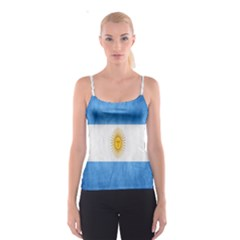 Argentina Texture Background Spaghetti Strap Top