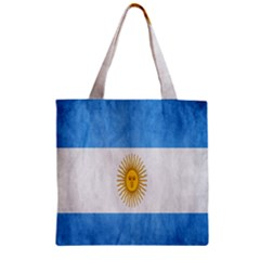 Argentina Texture Background Zipper Grocery Tote Bag