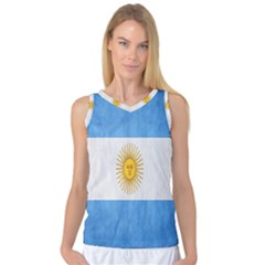 Argentina Texture Background Women s Basketball Tank Top