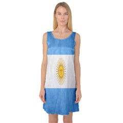 Argentina Texture Background Sleeveless Satin Nightdress