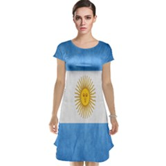 Argentina Texture Background Cap Sleeve Nightdress