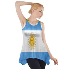 Argentina Texture Background Side Drop Tank Tunic