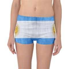 Argentina Texture Background Reversible Bikini Bottoms