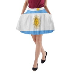 Argentina Texture Background A-Line Pocket Skirt