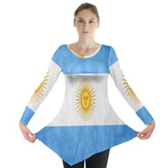 Argentina Texture Background Long Sleeve Tunic