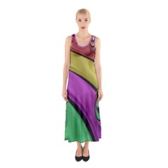 Balloons Colorful Rainbow Metal Sleeveless Maxi Dress