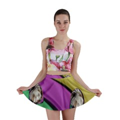 Balloons Colorful Rainbow Metal Mini Skirt