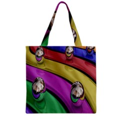 Balloons Colorful Rainbow Metal Grocery Tote Bag