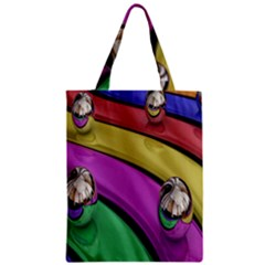 Balloons Colorful Rainbow Metal Zipper Classic Tote Bag