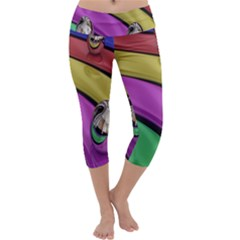 Balloons Colorful Rainbow Metal Capri Yoga Leggings