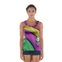 Balloons Colorful Rainbow Metal Women s Sport Tank Top