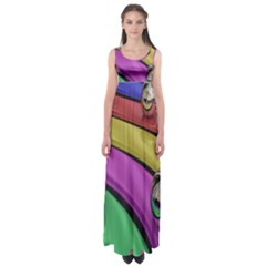 Balloons Colorful Rainbow Metal Empire Waist Maxi Dress