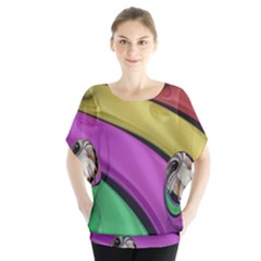 Balloons Colorful Rainbow Metal Blouse