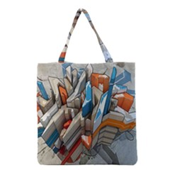 Abstraction Imagination City District Building Graffiti Grocery Tote Bag