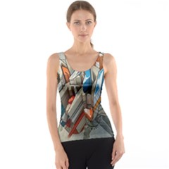 Abstraction Imagination City District Building Graffiti Tank Top