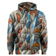 Abstraction Imagination City District Building Graffiti Men s Pullover Hoodie
