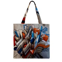 Abstraction Imagination City District Building Graffiti Zipper Grocery Tote Bag