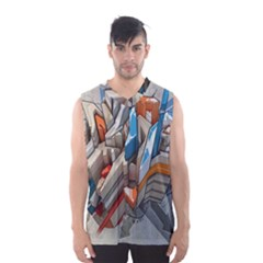 Abstraction Imagination City District Building Graffiti Men s Basketball Tank Top