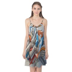 Abstraction Imagination City District Building Graffiti Camis Nightgown