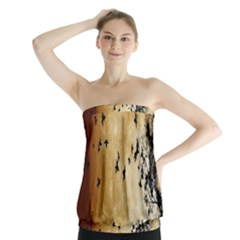 Birds Sky Planet Moon Shadow Strapless Top