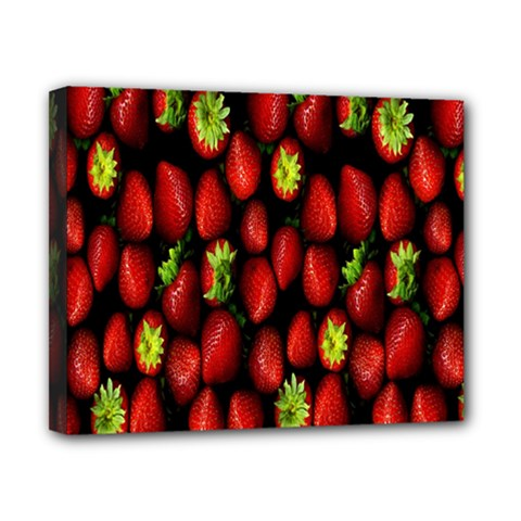 Berry Strawberry Many Canvas 10  X 8