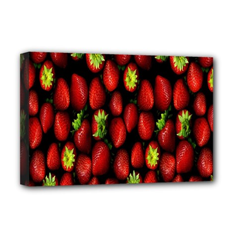 Berry Strawberry Many Deluxe Canvas 18  x 12