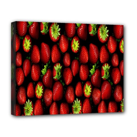 Berry Strawberry Many Deluxe Canvas 20  X 16