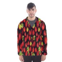 Berry Strawberry Many Hooded Wind Breaker (Men)