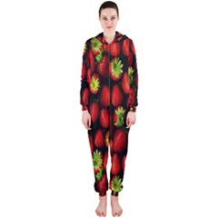Berry Strawberry Many Hooded Jumpsuit (Ladies)