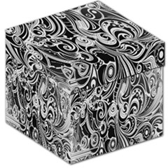Black White Pattern Shape Patterns Storage Stool 12