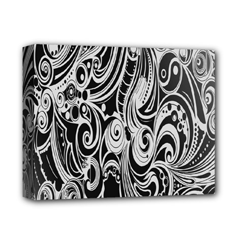 Black White Pattern Shape Patterns Deluxe Canvas 14  x 11