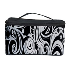 Black White Pattern Shape Patterns Cosmetic Storage Case