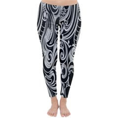 Black White Pattern Shape Patterns Classic Winter Leggings