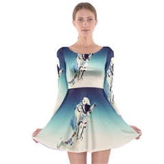 astronaut Long Sleeve Skater Dress