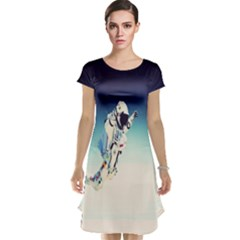 Astronaut Cap Sleeve Nightdress