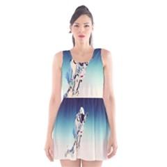 astronaut Scoop Neck Skater Dress