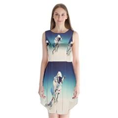 astronaut Sleeveless Chiffon Dress