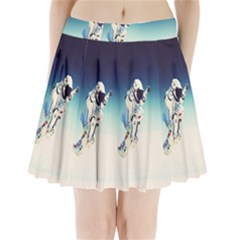 astronaut Pleated Mini Skirt
