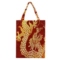 Fabric Pattern Dragon Embroidery Texture Classic Tote Bag