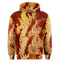 Fabric Pattern Dragon Embroidery Texture Men s Zipper Hoodie