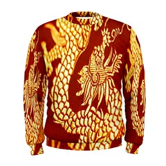 Fabric Pattern Dragon Embroidery Texture Men s Sweatshirt