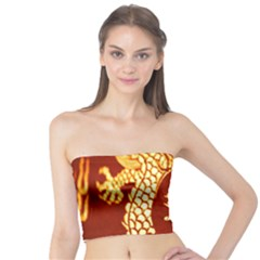 Fabric Pattern Dragon Embroidery Texture Tube Top