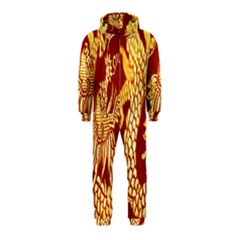 Fabric Pattern Dragon Embroidery Texture Hooded Jumpsuit (Kids)