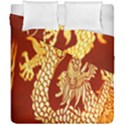 Fabric Pattern Dragon Embroidery Texture Duvet Cover Double Side (California King Size) View1