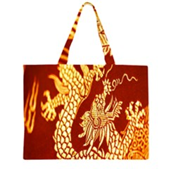 Fabric Pattern Dragon Embroidery Texture Large Tote Bag