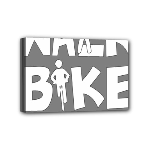 Bicycle Walk Bike School Sign Grey Mini Canvas 6  x 4