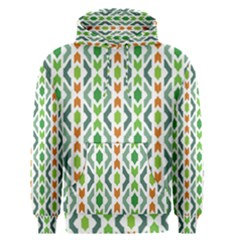 Chevron Wave Green Orange Men s Pullover Hoodie