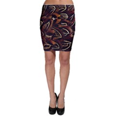 Feathers Bird Black Bodycon Skirt